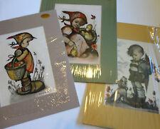 ORIGINAL HUMMEL ARS ED Art Prints Set of 3 {Mats New in Shrink Wrap} 13X16