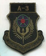 AFSOC A-3 Special Operations Command Sq SOS USAF Air Force Patch w/HOOK BACK