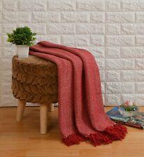 Herringbone Throws Zig Zag Style Sofa / Bed 100% Cotton Woven Throws All Sizes