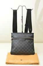 Louis Vuitton for Men Damier Graphite Thomas Shoulder Bag Preowned Authentic