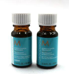Moroccanoil Moroccan Oil Treatment 10 ml /0.34 Oz + Light Sample Size Total of 2