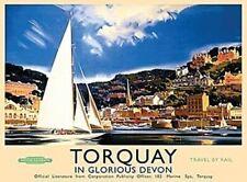 More details for torquay (old rail ad.) large steel sign  400mm x 300mm (og ls)