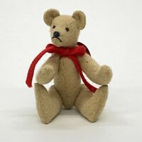 "Bears of Lloyd Miniature Jointed 2.5"" Teddy Bear By Lisa Loyd Signed Dated 1989"