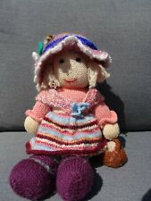 Hand knitted  / Handmade -  traditional granny doll  (Jean Greenhowe)