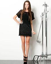 """$265 NWT Diane von Furstenberg """"Zarr"""" Black Silk Lace mini Skirt 10"""
