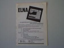 advertising Pubblicità 1961 MACCHINA PER CUCIRE ELNA SUPERMATIC