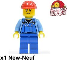 Lego Figurine Minifig city ouvrier worker chantier outil tool casque cty0291 NEW
