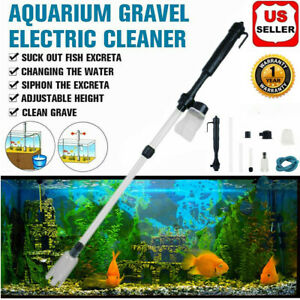 Electric Gravel Cleaner Aquarium Fish Tank Automatic Siphon Vacuum Water Change