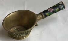 VINTAGE CHINESE BRONZE HANDLE CUP (WITH ENAMEL)