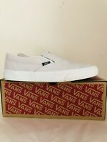 Vans Classic Slip On Snakeprint White Leather Shoes Size 7.5/41