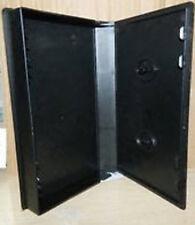 25 VHS CASE VIDEO CASSETTE STORAGE MEDIA CASES PLASTIC  BLACK/CLEAR