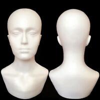 Homme Mannequin Tête Buste Présentoir Chapeau Perruque Modèle Mousse Polystyrène