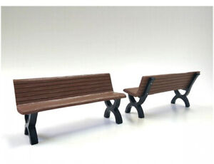 Bench Accessory 2 Piece Set For 1/18 Scale Models By American Diorama