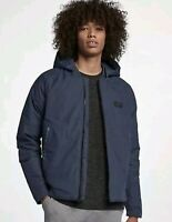 Nike Down Fill Bomber Jacket with Hood 866022-471 Medium Blue