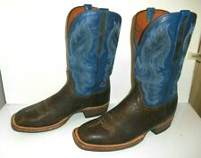 13 D Lucchese 1883 Brown Cowhide Leather, Bull Hide Heel area Crepe Sole Boots