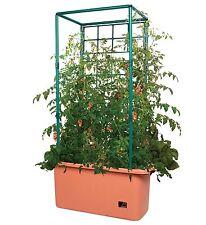 Hydrofarm GCTR 10 Gal Tomato Trellis Self Watering Garden Grow System on Wheels