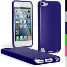 Blue TPU Skin Gel Case for Apple iPod Touch 6th 5th Generation itouch Cover