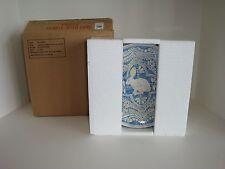 "Pottery Barn S/4 Graphic Bunny 8"" Plates NIB Blue Easter Spring Rabbit"