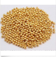 100/1000pcs golden silve plated metal small round bead bead Shining silver beads