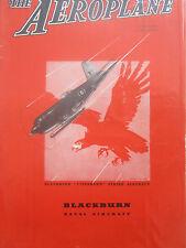 8/46 PUB BLACKBURN FIREBRAND IV STRIKE AIRCRAFT ROYAL NAVY TORPEDO COVER AD