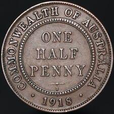 More details for 1918 i | australia george v one half-penny | bronze | coins | km coins