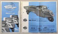 Werbeprospekt Broschüre Plakat Tempo Hanseat Lastwagen Pritschenwagen um 1945 xz