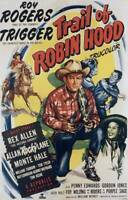 OLD LARGE ROY ROGERS COWBOY MOVIE POSTER, Trail Of Robin Hood 1950