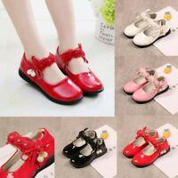 Children Infant Kids Baby Girls Pearl Lace Flower Dance Single Princess Shoes US