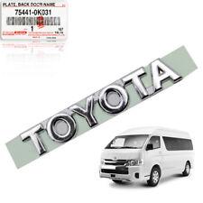"Badge Emblem Logo ""TOYOTA"" Chrome Genuine For Toyota Hiace Commuter 2005 - 2017"