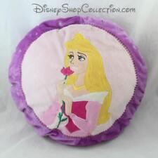 Coussin rond Aurore DISNEY La Belle au bois dormant violet rose princesse 33 cm