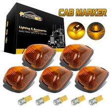 5 Amber Cab Marker Lights 264143AM+161 3528 Amber LED+Base for Ford F-350 99-16