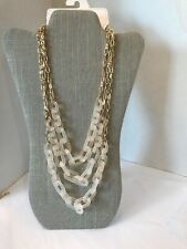 Stephan & Co. Gold tone chain Necklace 3 Tiers Plastic