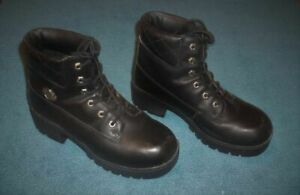 GENUINE HARLEY DAVIDSON WOMEN'S LACE-UP BOOTS - SIZE 9