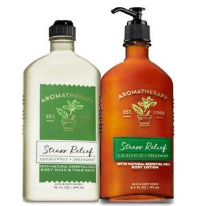 Bath & Body Works Aromatherapy Eucalyptus Spearmint Body Lotion + Body Wash Set
