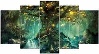 Tableau Mural Fantasy Forêt Féerique Polyptyque Impression Sur Toile Déco Salon