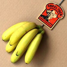 ONKEL TUCA Bananas Alter Bananen Haken Hamburg 70er RAR u. TOP Obst Laden KURIOS