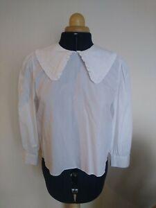 Zara Big Collar Blouse Size M