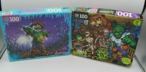 VTG Goosebumps Puzzle Trick or Treat & The Scarecrow Walks At Midnight (BE118)