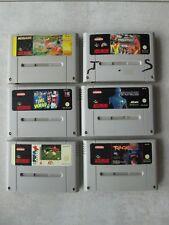 --- Lot de 6 jeux Super Nes  Nintendo ---