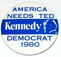 1980 TED KENNEDY Edward EMK campaign pin pinback button political presidential