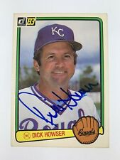 Dick Howser 1983 Donruss Autographed Baseball Card Royals Yankees Indians A's