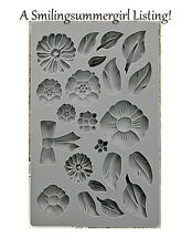 Rustic Flower Silicon Mold for Art, Decor Soap, Candy, Chocolate, Paper & Clay