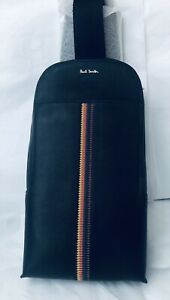 Paul Smith Men Bag Sling EMB Stp 100% Leather Made In Thailand