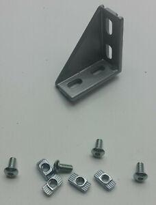 Winkel 20 x 40 Nut 6 Bosch Raster mit Befestigung - Aluprofil 20 Strebenprofil