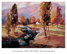 """American Artist, Ted Goerschner """"Fall in The Valley"""" Large print"""