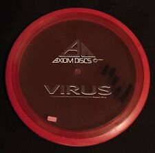 USED AXIOM DISCS VIRUS PROTON DISTANCE DRIVER 174 GRAMS RED WITH INK
