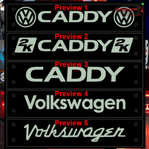 VW CADDY LED WINDOW SIGN 500X100mm WITH FULL REMOTE COLOUR AND DIMMING OPTIONS
