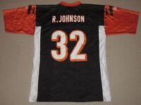 NFL Football Cincinnati Bengals Rudi Johnson  32 Jersey Adult Large Reebok  Black 5c47777a1