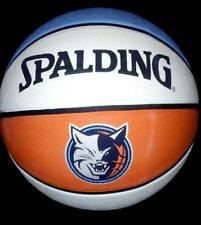 NBA CHARLOTTE BOBCATS hornets Spalding Basketball TEAM LOGO BASKETBALL courtside