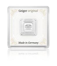5 GRAMMI LINGOTTO ARGENTO/SILVER BAR Geiger .999 originale forma quadrata in capsula